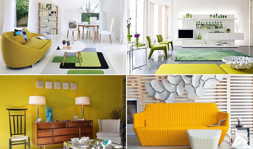 Decoracion con color amarillo mostaza