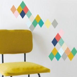 Stick de rombos para paredes juveniles, ultima tendencia en decoracion