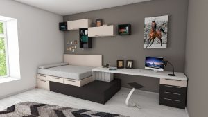 Dormitorio pintado con colores neutros