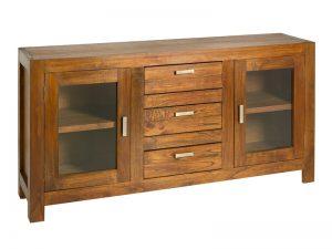 Mueble rustico con acabado colonial. Aparador de estilo rustico pero elegante