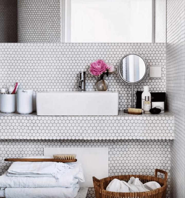 Reforma de baño con estilo romantico vintage