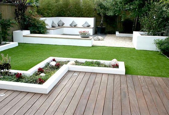 Diferentes suelos para jardines y terrazas, una tecnica muy original