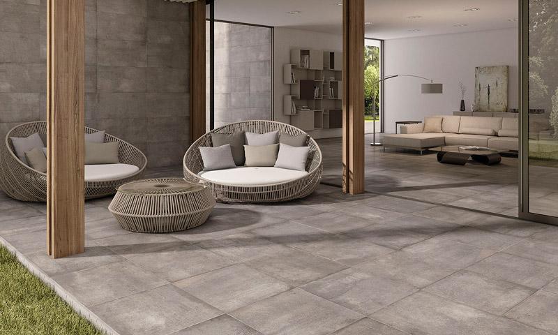 Suelos que unifican el espacio tanto interior como exterior con pavimentos continuas