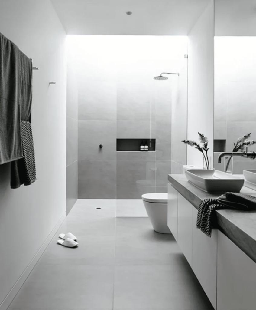 Ducha de suelo para baños pequeños