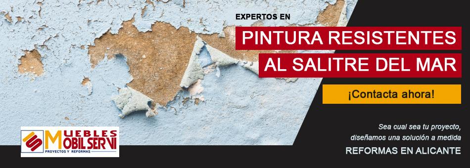 Pinturas resistentes para el salitre del mar. Reformas en Alicante. Expertos en reformas de viviendas