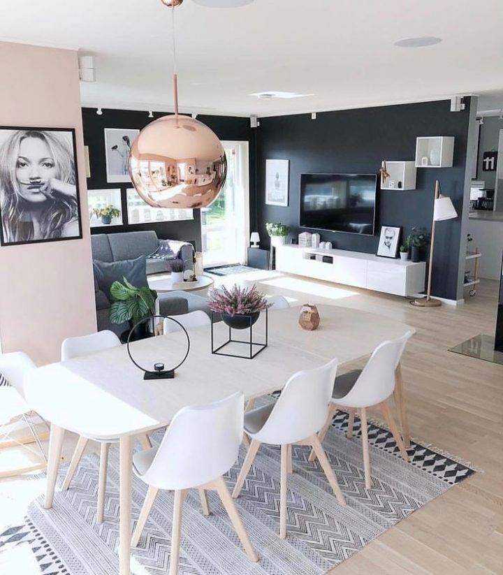 Open Concepto con estilo moderno aplicado a un salon-comedor
