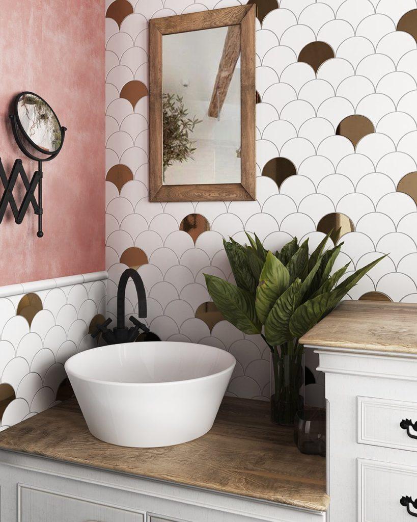 Renovacion de baños con aire vintage, ideal para casas antiguas